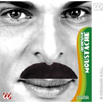 Moustache 6 Styles Black - Fancy Dress