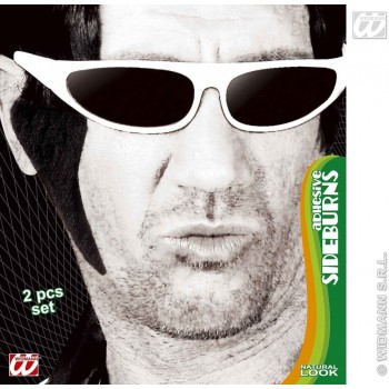 Sideburns Adhesive Black - Fancy Dress