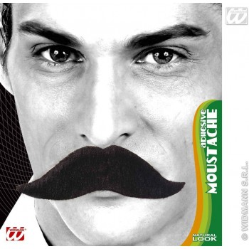 King Moustache Black Adhesive - Fancy Dress (Royalty)