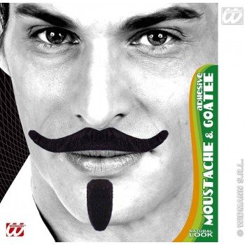 Chevalier Tash & Goatee Black Adhesive - Fancy Dress