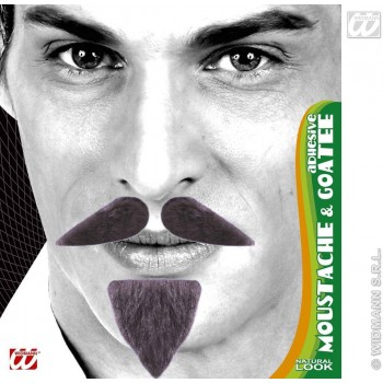 Diplomat Tash & Goatee Adhesive - Fancy Dress