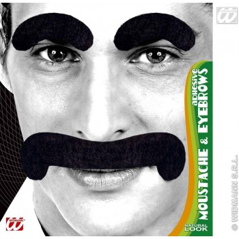 Gentleman Tash/Eyebrows Black - Fancy Dress