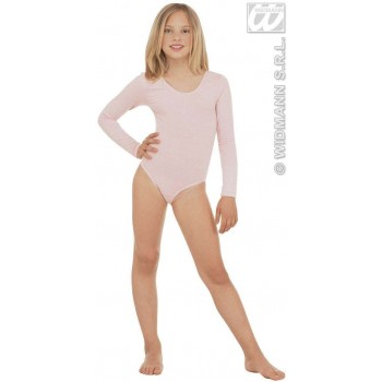 Leotard Girls W/Sleeves Lt Pink Fancy Dress Costume