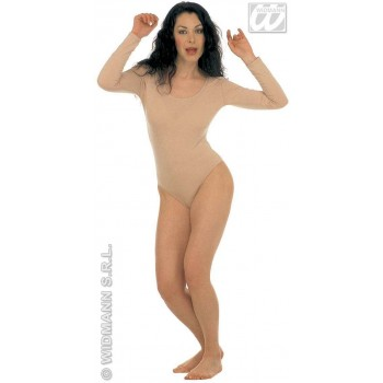Lady Leotard W/Long Sleeves - Beige Fancy Dress Costume