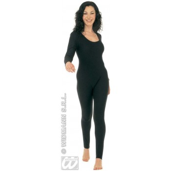 Lady Bodysuit W/Sleeves Black Fancy Dress Costume