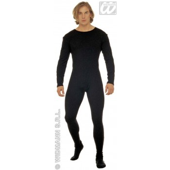 Man Bodysuit W/Sleeves Black - Fancy Dress