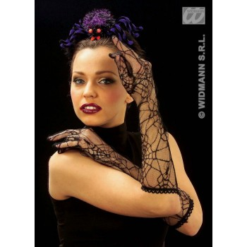 Spiderweb Gloves Black - Fancy Dress