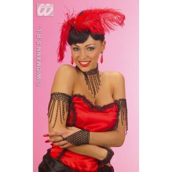 Fingerglove Beaded Black - Fancy Dress