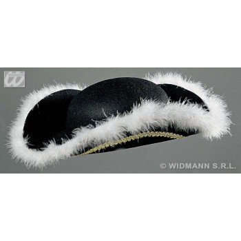 Felt Tricorn With Marabou Trim - Fancy Dress