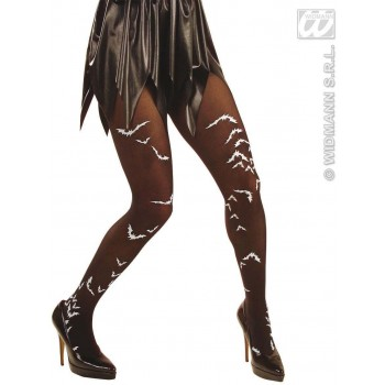 Xl Pantyhose Black Bats 40 Den - Fancy Dress