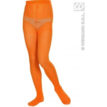 Pantyhose Child Sizes - Orange - Fancy Dress Girls