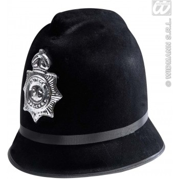 Flocked Bobby Police Hats - Fancy Dress (Cops/Robbers)