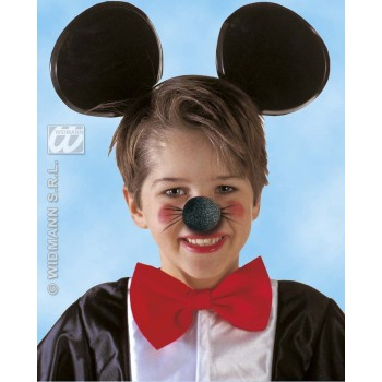 Mouse Nose Black Sponge - Fancy Dress (Animals)