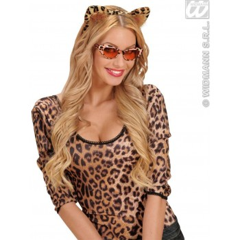 Velvet Leopard Ears - Fancy Dress