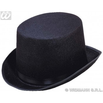 Topper Big Felt Hat Black - Fancy Dress