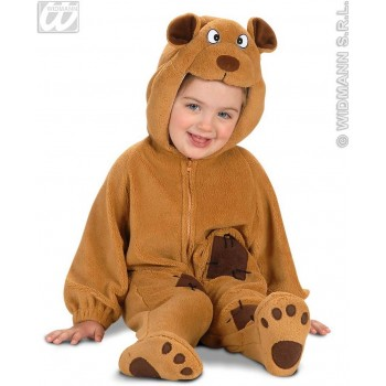 Bear  Kids 90Cm Jumpsuit W/Headpiece Costume Age 1-2 (Animals)