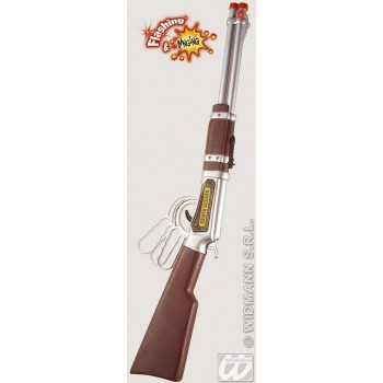 Cowboy Rifle Flashing/Banging 63Cm - Fancy Dress (Cowboys/Native Americans)