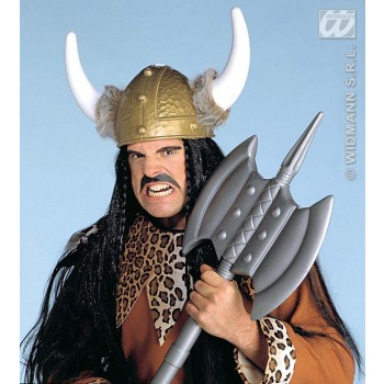 Viking Hat Deluxe With Fur Trim - Fancy Dress (Viking)
