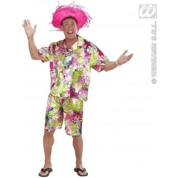 Hawaiian Man Fancy Dress Costume Mens (Hawaiian)