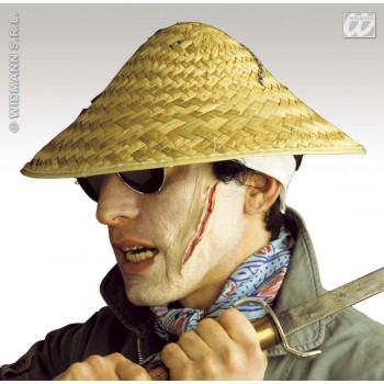 Straw Vietkong Hat Natural - Fancy Dress