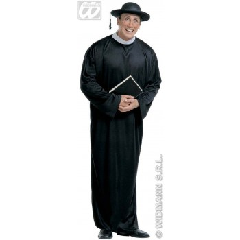 Xl Priest Costume Fancy Dress Costume Mens Size 46-48 (Vicars/Nuns)
