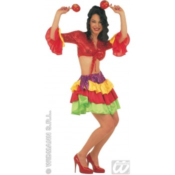 Brasileira Costume Adult Top/Skirt Fancy Dress Costume (Cultures)
