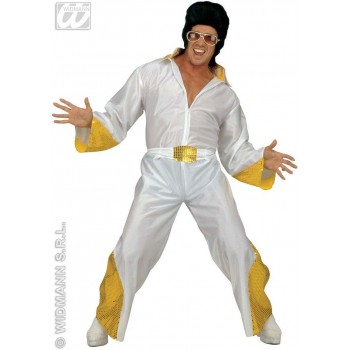 The King Adult Fancy Dress Costume Mens (Music)