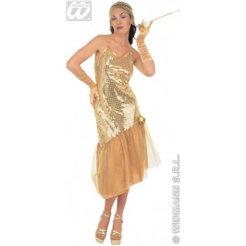 Lulu' With Sequin Dress Fancy Dress Costume Ladies