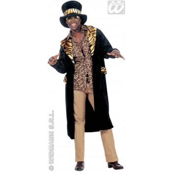 Big Daddy Costume Velvet Fancy Dress Costume Mens (Pimp)