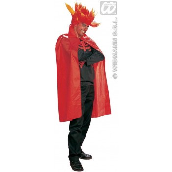 Cape Adult 115Cm Red Fancy Dress Costume Mens (Halloween)