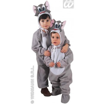 Cat - Jumpsuit & Headpiece W/Mask Costume Age 2-3 (Animals)
