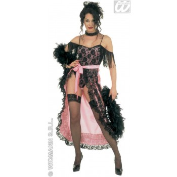 Moulin Rouge With Velvet Lace Leotard, Skirt Costume (Burlesque)
