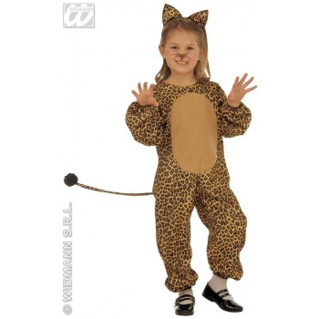 Leopard & Jumpsuit & Ears, Soft & Cute Costume