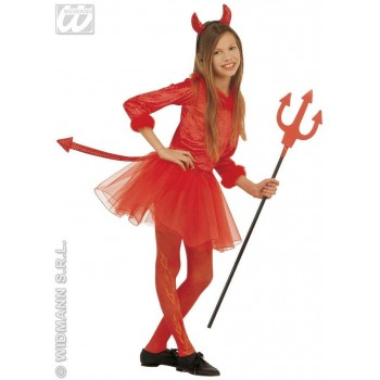 Devil Girl Costume Feather Trimmed Costume Girls (Halloween)