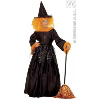 Fancy Witch With Dress W/Wire Hoop, Hat. Fancy Dress (Halloween)