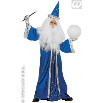 Fantasy Wizard With Velvet Robe, Hat4 Col. Fancy Dress (Wizards)