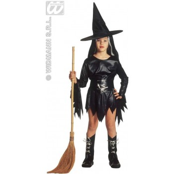 Evil Witch With Dress, Belt, Boot Covers, Hat Costume (Halloween)