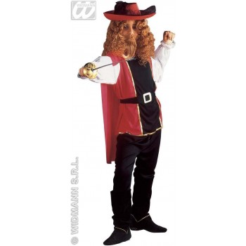 Musketeer With Coat, Pants, Belt And Cape Fancy Dress (Musketeers)