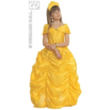 Beauty Queen Yellow Dress Child Fancy Dress Costume (Royalty)