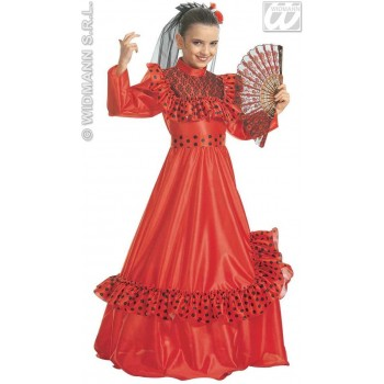 Flamenco Lady Child Costume Fancy Dress Costume (Spanish)