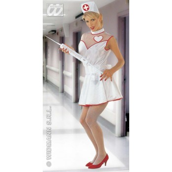 Nurse With Dress, Belt And Headpiece Fancy Dress Ladies (Doctors/Nurses)