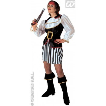 Pirate Lady - Coat W/Jabot, Skirt, Belt, Boot C Costume (Pirates)