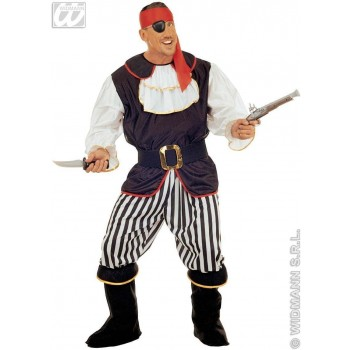 Pirate Adult Costume Deluxe Fancy Dress Costume Mens (Pirates)