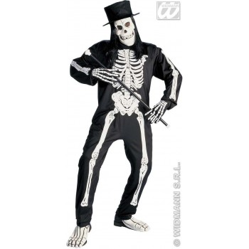 Chic Skeleton Adult Fancy Dress Costume Mens (Halloween)