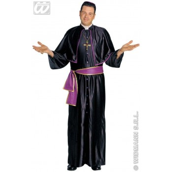 Cardinal With Robe W/Tippet, Belt, Cap Fancy Dress Mens (Vicars/Nuns)
