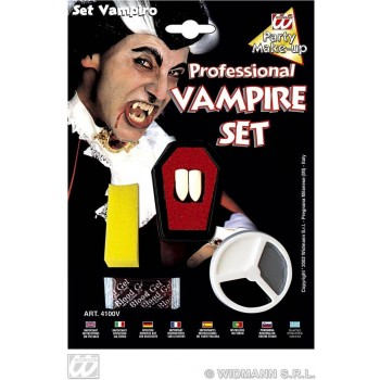 Dracula Makeup Set With Fangs - Fancy Dress (Halloween)