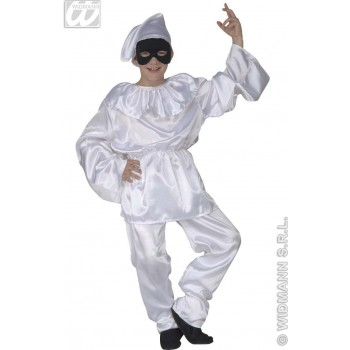 Satin Pulcinella Fancy Dress Costume Girls (Clowns)