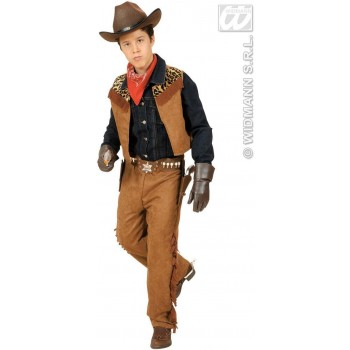 Cow, Boy/Native American With Vest, Pants Fancy Dress Costume (Cowboys/Native Americans)