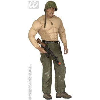 Super Muscle Shirt Fancy Dress Costume Mens