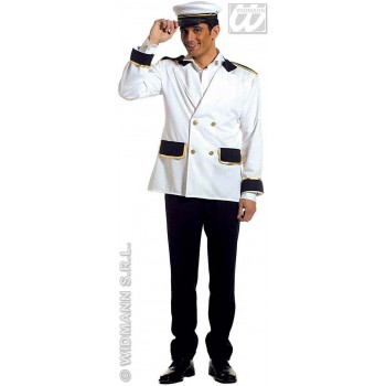 Captain Jacket Fancy Dress Costume Mens (Sailor)